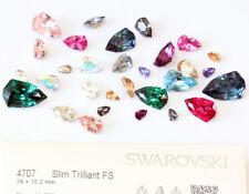 NEW Genuine SWAROVSKI 4707 Slim Trilliant Fancy Stones Crystals * Many Colors