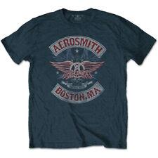 Official T Shirt AEROSMITH- BOSTON PRIDE Size S Blue Mens Licensed Merch New