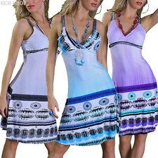 vestito con Spalline Vestitino estivo paillette v-auschschnit in sintetico 36