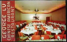 RED BANK NJ George Lu Chinese Restaurant Vtg Postcard