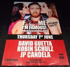 David Guetta FMIF @ Pacha-Ibiza Club Poster - 2015/2016/2017 DJ EDM Musik
