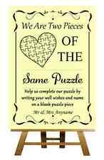 Giallo Puzzle guest BOOK nozze PERSONALIZZATA segno / POSTER