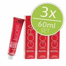 3 x Schwarzkopf Professional Igora Royal 60ml - 50 tonalità colore dei capelli