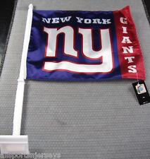 NFL NWT CAR WINDOW FLAG - NEW YORK GIANTS