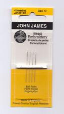 John James Beading Embroidery Needle Set from England Needlepoint ~ Size 12
