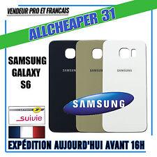 Vitre Arrière SAMSUNG S6 Cache batterie stiker précollé + OUTILS HQ ORIGINAL