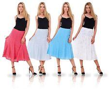Ladies Classic A Line Womens Printed Lined Midi Skirt