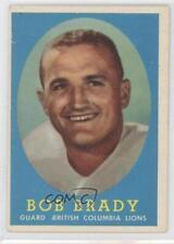 1958 Topps CFL #51 Bob Brady BC Lions (Vancouver Lions) (CFL) Football Card