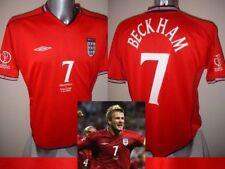 Inglaterra David Beckham Camiseta Jersey Fútbol S M L XL Owen Scholes, 02 lejos