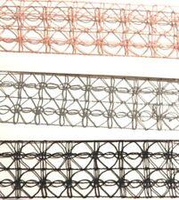 LATTICE CROCHET LACE CHOKER wide band net necklace pink black gray set lot 6V