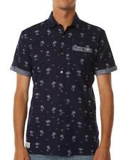 Rip Curl HALEIWA Shirt Men's SHORT SLEEVE Casual Shirts New - Blue
