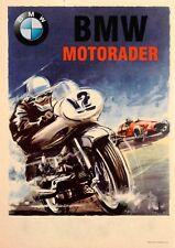 Vintage German BMW Motorader Poster Print