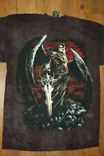 Death Wish Skeleton Reaper Dark Fantasy Shirt Mountain Black  Sizes Small-2XL