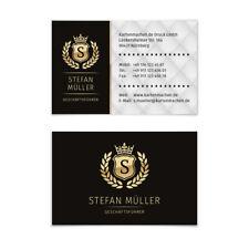 Visitenkarten individuell Business Karten 300g/qm 85 x 55 mm - VIP Schwarz Gold