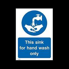 Ciò Sink per lavaggio a mano solo - in plastica segno o Adesivo-Tutte le Taglie - (misc55)