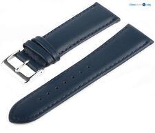 Lederarmband 7019630 LLB30 Blau Glattleder Uhrenarmband Armband Feines Leder