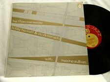 BOBBY HACKETT & VIC DICKENSON Live Manassas SIGNED autographed LP