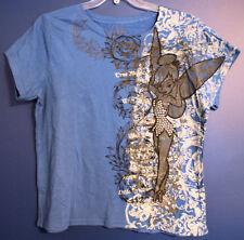 New Disneyland TINKER BELL Studded Filigree T-Shirt Jr 1X