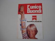 advertising Pubblicità 1980 BUONDI' MOTTA