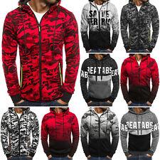 OZONEE Herren Kapuzenpullover Sweatshirt Sweatjacke Camouflage Hoodie 99-10 MIX