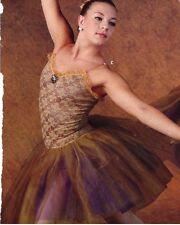 NWT Victorian Flair European Ballet Costume Plum A.Gold Tulle Organdy Ladies szs