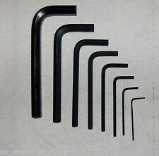 Metric Short Arm Allen Keys Hexagon Key 1.27, 1.5, 2, 3, 4, 5, 6, 8, 10mm hex