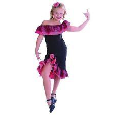 GIRLS FLAMENCO TANGO SPANISH FANCY DRESS COSTUME