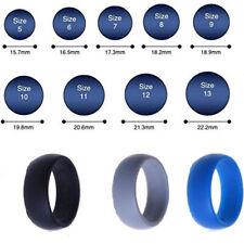 3pcs Set Men Women Wedding Ring Fashion Rubber Silicone Band Gym Rings Gift