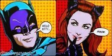 BATMAN E CATWOMAN CANVAS Wall Art FILM MOVIE POSTER stampa Adam West JOKER