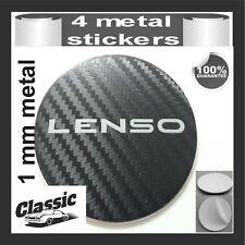 METAL STICKERS WHEELS CENTER CAPS Centro LLantas 4pcs Classic LENSO Carbon