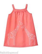 NWT Gymboree Girls Sunny Safari Giraffe Shift Dress Embroidery 18 24 2T 3T 4T 5T
