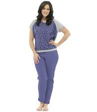 Ladies Star Print T-Shirt Pyjama Set Tapered Trousers Nightwear