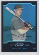 2004 Bowman Chrome Blue Refractor #169 Matt Moses New York Yankees Baseball Card