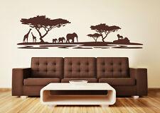 Africa Safari Savannah Serengeti Lion Animals Landscape Wall Sticker Wall Decal