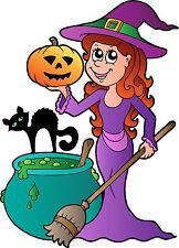 Stickers autocollant muraux enfant Sorcière Halloween réf 3687 (30 dimensions)