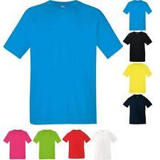 ENFANTS GARçON FILLE FRUIT LOOM polyester manche courte Performance T-shirt haut