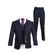 Designer Sebastian Le Blanc Boys 3 Piece Navy Slim Fit Suit Prince William Style