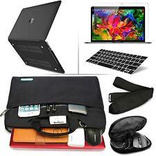 "Black Rubberized Matte Case & Slim Shoulder Bag F Macbook Pro/Air/ Retina 13""15"""