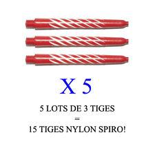 Lot de 5 jeux = 15 tiges flechettes darts shaft NYLON SPIRO  (short: 3,5cm)