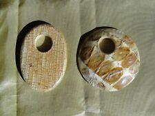Balsa Wood Focal GoGo Donut Bead Drop Pendants - New