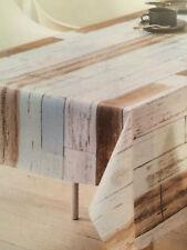 toile cirée nappe table au mètre carré rond ovale aspect bois k150109