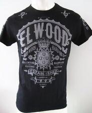 ELWOOD Mens Premium Latest Top Tee T-Shirt Size S M L XL XXL black hurley fox