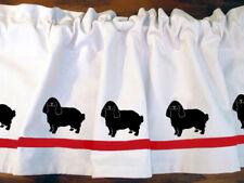 English Toy Spaniel Dog Window Valance Curtain .. Choice of Colors*