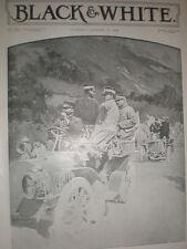 King Victor Emmanuel III of Italy on his Motor Car 1903 old print