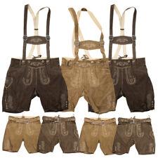 Herren Trachten Lederhose hellbraun braun kurz mit ohne Träger Oktoberfest Hose