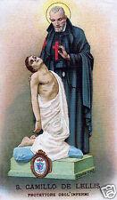 SANTINO HOLY CARD TELA CANVAS SAN CAMILLO DE LELLIS n 1