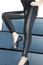 INGRID Legging Mat Noir Marque Bas Bleu T2/S T3/M T4/L T5/XL ou T6/2XL