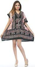 Elephant Top Beachwear Women kaftan Short Length Caftan Summer Cocktail Dress