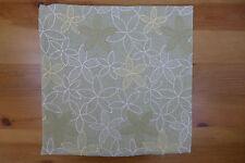 Kissen Kissenhülle Kissenbezug 40 x 40 cm Rhapsody grün bestickt Blumen