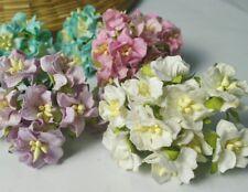 5 of Gardenia Flower Mulberry Paper Scrapbooking card craft Wedding DIY 2.50cm